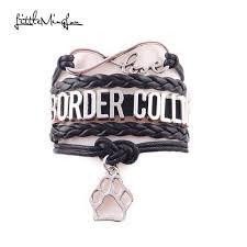 <b>Little MingLou</b> Infinity love border collie bracelet dog pet paw charm ...