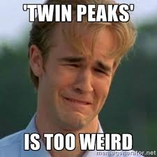 twin peaks' is too weird - 90s Problems | Meme Generator via Relatably.com