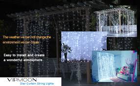 VIPMOON Window Curtain Lights,3m x 3m 300LED ... - Amazon.com