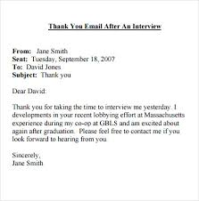 Sample Thank You Email For Internal Job Interview - Cover Letter ... Interview Thank You Email Template