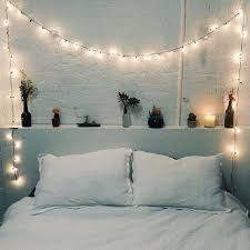 pictures simple bedroom: fairy lights in bedrooms bedrooms v lights around the bed head classic and simple to execute candles plants brick walls and a perfect little ledge