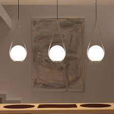 <b>Nordic Glass Ball Pendant</b> Light Modern Round Global Hanging ...