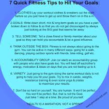 live life out loud 7 quick fitness tips to hit your goals