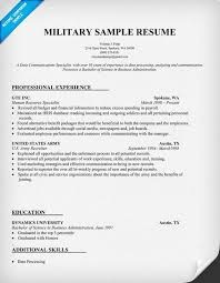 army resume example sample resume military experience military military resume example