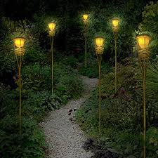 outdoor torch lighting. led tiki torch path lights outdoor lighting w