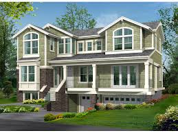 Vermillion Bay Raised Home Plan D    House Plans and MoreRaised Two Story House Design Has Uncommon Style And Drive Under Garage