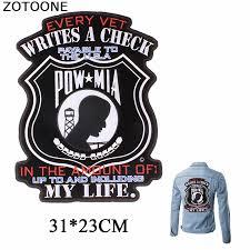 <b>ZOTOONE</b> Military Memoria Iron on <b>Patch US</b> Vietnam War POW ...