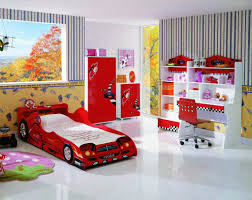 amazing children bedroom design ideas with red car beds interior and white tile floor also white amazing kids bedroom ideas calm