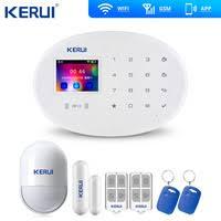 <b>KERUI W20</b> WiFi GSM Touch Alarm System