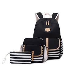 <b>3pcs</b>/<b>set</b> canvas backpack rucksack <b>school bag</b> waterproof shoulder ...