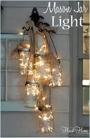 diy mason jar light all things heart and home adore diy hanging mason jar