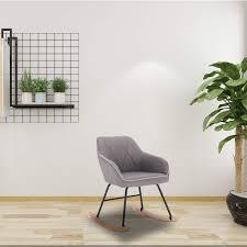 WOLTU Rocking <b>Chair Light Grey</b> Rocker Re- Buy Online in <b>French</b> ...