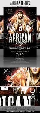 african nights flyer template by grandelelo graphicriver african nights flyer template clubs parties events