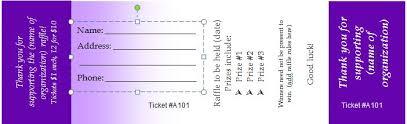 40+ Free Editable Raffle & Movie Ticket Templates Raffle Ticket Templates 05