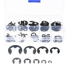 <b>Mayitr</b> 120pcs Stainless Steel E-Clip <b>Black</b> Circlip Retaining Ring ...