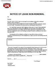 non renewal of tenancy notice at essential landlord rental forms page with apartment lease rental agreement rental termination letter to tenant