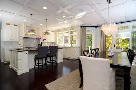 Small Picture Open Plan Soft White Cabinets Contrasting Dark Floors