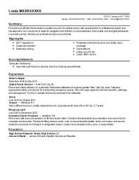 school bus driver resume example  all county bus    bronx  new yorkfeatured resumes