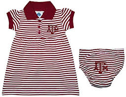 Texas A&M University Aggies Striped Game Day Dress with Bloomer
