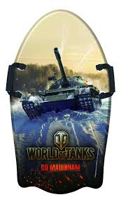 <b>Ледянка</b> детская 1TOY <b>World of Tanks</b> 92 см, с плотными ручками ...