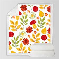 Flower <b>Sunflower</b> Funny Character Blanket 3D <b>Print</b> Sherpa Blanket ...