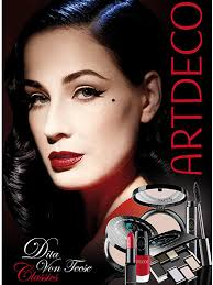 dita von teese launches makeup collection with artdeco