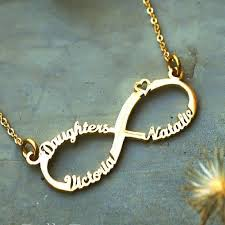 <b>Personalised</b> Classic <b>Infinity</b> Name <b>Necklace</b> - Silver, Gold or Rose ...