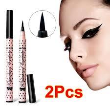 <b>2 Pcs NEW</b> Eyeliner <b>Waterproof</b> Liquid Eye Liner Pencil Pen Make ...