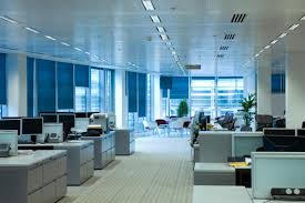 corporate blue scheme office office room interior design blue office corporate building blue office room design
