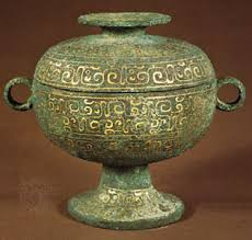 dou    Kids Encyclopedia   Children     s Homework Help   Kids Online     Photograph A dou  an ancient Chinese ceremonial bronze vessel for food  dates to