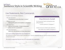 write online lab report writing guide critical features lab report sentence style in scientific writing
