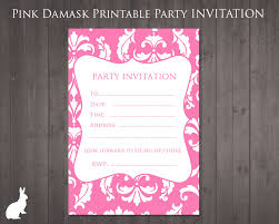 best images about printable birthday party invitations on party invitation pink damask