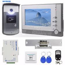 DIYSECUR Strike Lock <b>7 inch TFT</b> Color Video Door Phone Visual ...
