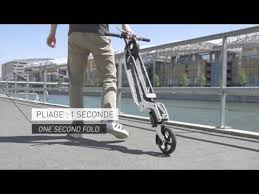 The ultra <b>portable</b> Kleefer Pure-180 <b>Kick Scooter</b> - YouTube