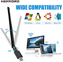 <b>HANNORD</b> WiFi Adapter WiFi <b>USB</b> Dongle Wireless Network <b>Card</b> ...