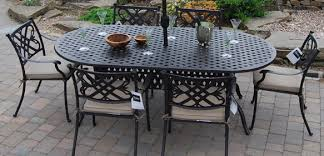 furniture design ideas outdoor metal wrought iron patio black stained elegant table lacquer six chairs black wrought iron patio