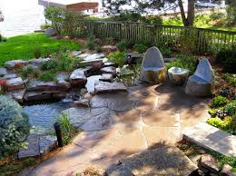 diy patio pond: ideas best natural stone patio designs ideas stone patio home