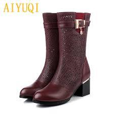 <b>AIYUQI</b> female summer <b>boots</b> 2019 new spring genuine leather ...