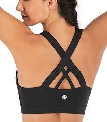 RUNNING GIRL Sports Bra for Women, Criss-<b>Cross</b> Back Padded ...