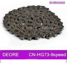 SHIMANO DEORE MTB Mountain Bike <b>HG73 9 9 Speed 116</b> Link ...