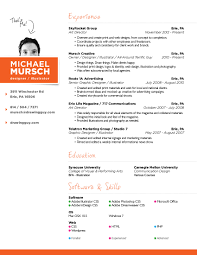resume michael mursch erie pa graphic design web design resume