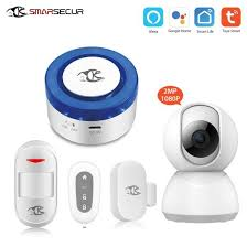 <b>Smarsecur</b> Tuya Smart Smart <b>Home Security</b> System <b>WiFi</b> Alarm ...
