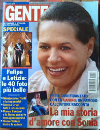 soniag first love affair makes it to gente magazine cover so rajive gandhi was her second love at first sight
