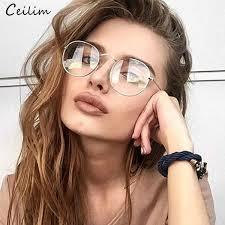 2019 Clear Lens <b>Round</b> Glasses Women 2019 <b>New Vintage Metal</b> ...