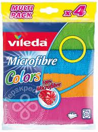 Купить <b>Салфетка Vileda Colors</b> из микрофибры 4шт с доставкой ...