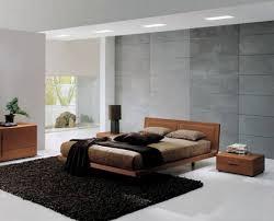 modern home interior bedroom design ideas with cool black fur rug and fascinating brown hardwood bedframe bedrooms furnitures design latest designs bedroom
