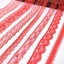 5yards <b>red</b> net lace elastic <b>lace trim</b> Embroidery 30mm width white ...