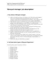 resume description for restaurant manager equations solver cover letter beverage manager job description food