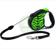 Поводок-<b>рулетка</b> для собак <b>Flexi Safari Tiger</b> M, зеленая