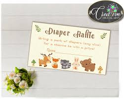 woodland baby shower diaper raffle insert ticket cards and sign woodland baby shower diaper raffle insert ticket cards and sign printable forest animals jpg